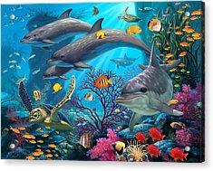 Secrets Of The Reef Acrylic Print by Steve Read