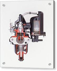 Sectioned View Of S.u. Carburettor Acrylic Print by Dorling Kindersley/uig