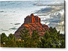 Sedona Arizona Bell Rock Painting Acrylic Print by Gregory Dyer