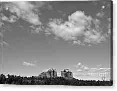 Sedona Arizona Big Sky In Black And White Acrylic Print by Gregory Dyer