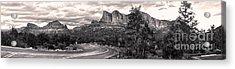 Sedona Arizona Black And White Panorama Acrylic Print by Gregory Dyer