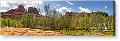 Sedona Arizona Cathedral Rock Panorama Acrylic Print by Gregory Dyer