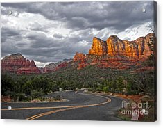 Sedona Arizona Lost Highway Acrylic Print by Gregory Dyer