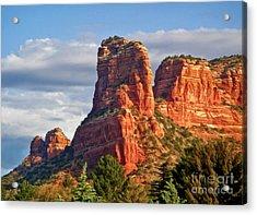Sedona Arizona Mountain Peak Acrylic Print by Gregory Dyer