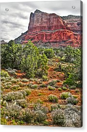Sedona Arizona Mountain View - 02 Acrylic Print by Gregory Dyer
