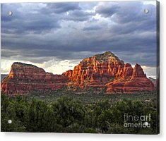 Sedona Arizona Mountains And Big Sky Acrylic Print by Gregory Dyer