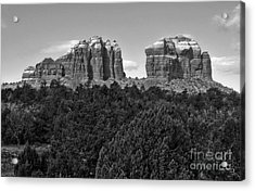 Sedona Arizona Mountains - Black And White Acrylic Print by Gregory Dyer