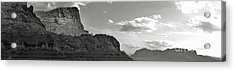 Sedona Arizona Mountains Black And White Panorama Acrylic Print by Gregory Dyer
