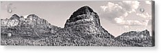 Sedona Arizona Panorama In Black And White Acrylic Print by Gregory Dyer