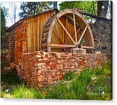 Sedona Arizona Water Wheel Acrylic Print by Gregory Dyer