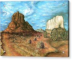 Sedona Arizona - Western Art Painting Acrylic Print