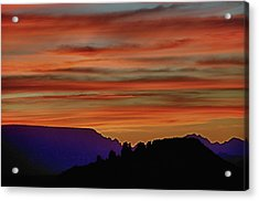 Sedona Az Sunset 2 Acrylic Print by Ron White