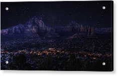 Acrylic Print featuring the photograph Sedona By Night by Lynn Geoffroy