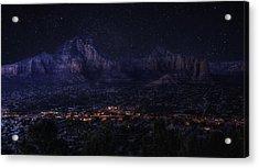 Sedona By Night Acrylic Print by Lynn Geoffroy