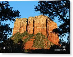 Sedona Courthouse Butte  Acrylic Print by Eva Kaufman