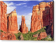 Sedona Red Rock Cathedral Rock State Park Acrylic Print by Bob and Nadine Johnston