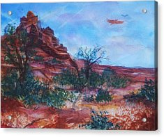 Sedona Red Rocks - Impression Of Bell Rock Acrylic Print
