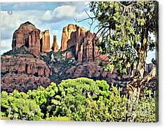 Acrylic Print featuring the photograph Sedona Scene by Lori Mellen-Pagliaro