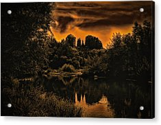 Sedona Sundown ... Acrylic Print by Chuck Caramella