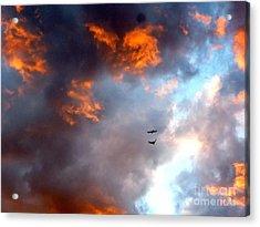 Sedona Sunset Ravens Acrylic Print