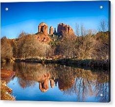 Sedona Winter Reflections Acrylic Print