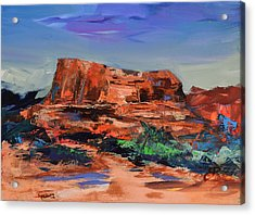 Courthouse Butte Rock - Sedona Acrylic Print