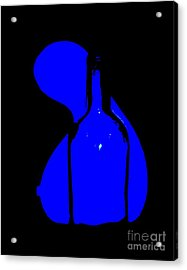 Acrylic Print featuring the photograph Seduction In Blue by Newel Hunter
