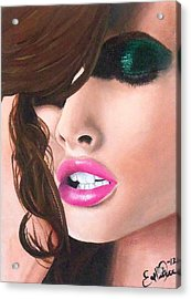 Seduction Acrylic Print by Oddball Art Co by Lizzy Love