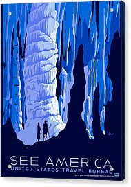 See America - Vintage 1930s Travel Poster Acrylic Print
