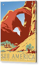 See America Vintage Travel Poster Acrylic Print