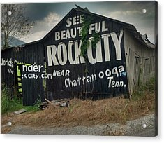 See Rock City Barn Acrylic Print