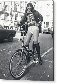 See The Cyclist �76 Campaign Acrylic Print by Retro Images Archive