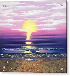 Acrylic Print featuring the painting See Through The Sun Is Set by Susan Roberts