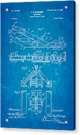 Seeberger Escalator Patent Art 1899 Blueprint Acrylic Print by Ian Monk