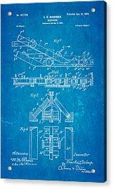 Seeberger Escalator Patent Art 1899 Blueprint Acrylic Print by Ian Monk