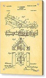 Seeberger Escalator Patent Art 1899 Acrylic Print by Ian Monk