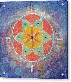 Seed Of Life Mandala Acrylic Print