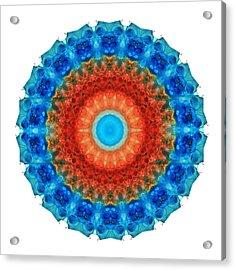 Seeing Mandala 2 - Spiritual Art By Sharon Cummings Acrylic Print