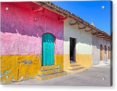 Seeing Pink In Latin America - Granada Acrylic Print by Mark E Tisdale