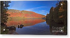Seeing Red At Jobs Pond Acrylic Print