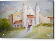 Seekers At The Mission Acrylic Print