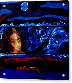 Seeking Sleep Trilogy Acrylic Print by Kathy Peltomaa Lewis
