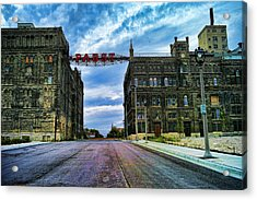Seen Better Days Old Pabst Brewery Home Of Blue Ribbon Beer Since 1860 Now Derelict Acrylic Print by Lawrence Christopher