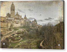 Segovia View Acrylic Print by Joan Carroll