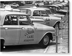 Segregated Taxi Cab Acrylic Print by Warren Leffler