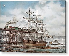 Sehome Coal Wharf Acrylic Print by James Williamson
