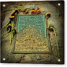 Seige Of Yorktown Memorial Acrylic Print