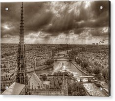 Seine From Notre Dame Acrylic Print