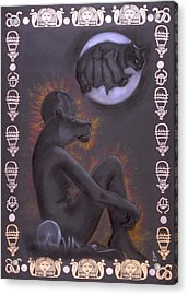 Sekhmet And Bastet Acrylic Print by Diana Perfect