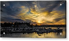 Selective Color Sunset - Mystic River Acrylic Print